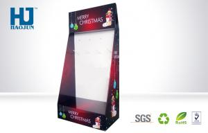 China Floor Standing Merry Christmas Cardboard Hook Display with SGS , ISO , RoHs on sale
