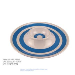 China 13' external printing biodegradable dessert plate, wholesale plastic chip and dip on sale