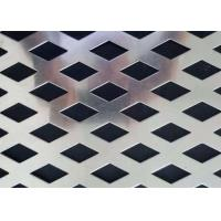 OEM Stainless Steel Perforated Metal  Diamond Hole Shape Easy To Clean