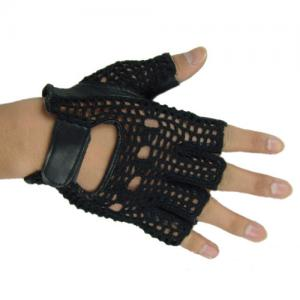 China Half Finger Gloves,Color: Black Green,Size: S M L XL on sale