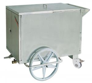 China Stainless Steel Food Warm Medical Equipment Trolley With 2 Large Wheels on sale