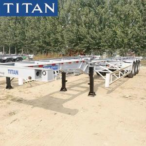 China Shipping Container Transport Trailer , Used Container Chassis for Sale on sale