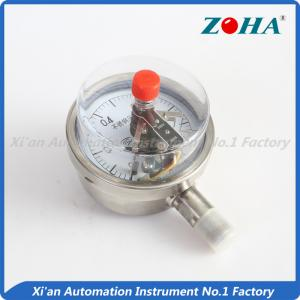 China Shock Corrosion Proof Electric Oil Pressure Gauge / Small Magnetic Pressure Gauge on sale