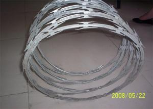 China Stainless Steel Razor Barbed Wire Outside Diameter 450 - 960 Mm Excellent Protection on sale