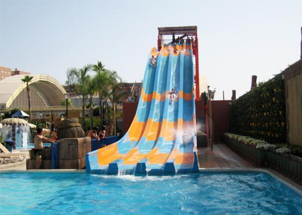 Aqua Play Swimming Pool Water Slides Open Rainbow Fiberglass ...