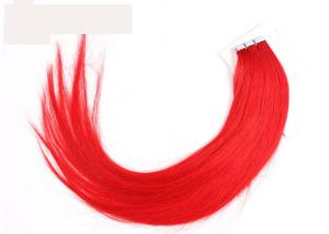 China Soft Smooth Red Tape In Virgin Human Hair Weave Extensions Double Side PU Skin Weft on sale