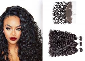 China 3 Bundles Brazilian Water Wave Human Hair , Long Water Wave Weave Human Hair on sale