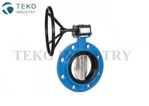 China Mono Flange API609 Butterfly Valve , Ductile Iron Body Concentric 12 Inch Butterfly Valve on sale
