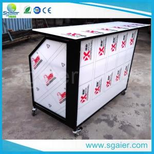 d349c835cbac Quality Aluminum outdoor mobile bar portable bar counter with wheels  folding bar for sale
