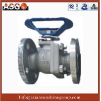 Special Material Ck20(f310) Dn12~4, Api 2 Pcs Float Ball Valve Cast Steel Ball Valve–ASG