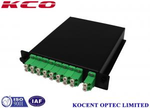 China Steel LGX box LC/APC Duplex 2*16 Optical Fibre PLC Splitter Divisor Plc De Fibra óptica on sale