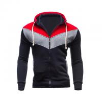 2018 New hot sale patchwork hoodies men hip hop mens zipper jacket hoodie sweatshirt slim fit XXL