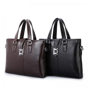 China PU Casual Business Brown Leather Laptop Bag , Travel Messenger Women'S Work Bags Briefcases on sale