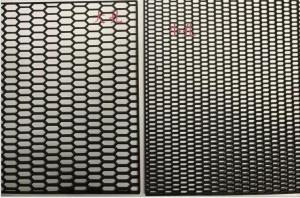 China Car Front Grille ABS Carbon Fiber Black Automobile Network 120cmx40cm High Quality on sale