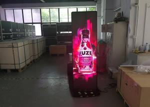 China Indoor Standing alone Ultra Slim Full Color Digital Screen LED Poster Display on sale