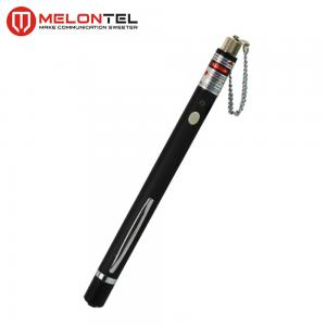 China Black AA Batteries Fiber Optic Tools , 5mw Visual Fault Locator Pen Red Light Source MT 8604 on sale