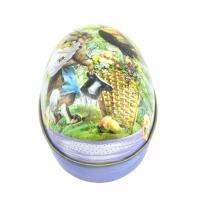 Christmas egg shape candy metal tin wholesale/easter egg candy tin box