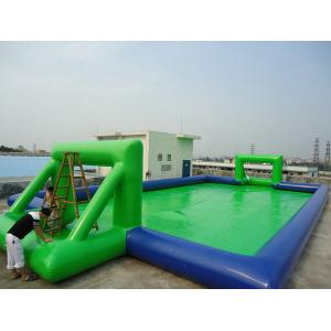 China PVC Amusement Park Inflatable football field for outdoor water park games on sale