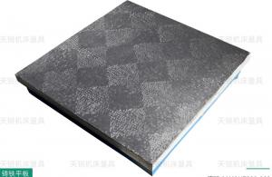 China Hollow Type Cast Iron Surface Plate In Scraping Marking Mounting Machine on sale