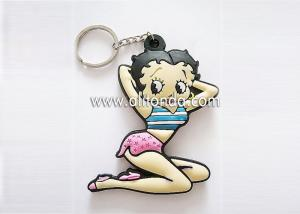 China Sex lady beautiful girl shape design PVC promotional keychain custom for car motor auto show gifts on sale