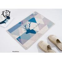 Anti Slip Livingroom Houseware Items Decorative Mats Christmas Deer Pattern Digital Printed For Home