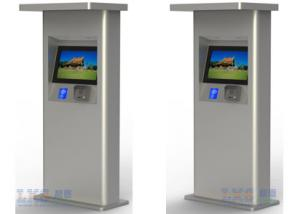 China Semi Outdoor Card Payment Touch Screen Free Standing Stainless Steel Kiosk Self Service on sale