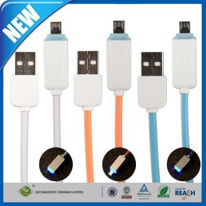 China LED Light Micro Cell Phone USB Cable Data Sync Charging Cord for Samsung S6 on sale