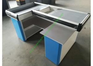 China Custom-made Steel Shop Cashwrap / Cash Desk And Table For Supermarket on sale