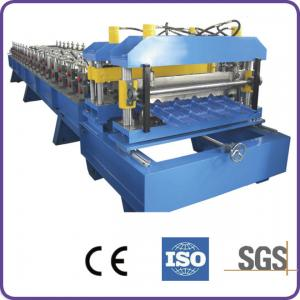 China Hydraulic Automatic Cutting 45# Forge Steel Roof Tile Roll Forming Machine on sale