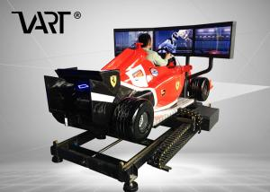 China Super Cool F1 Driving Virtual Reality Simulator With 3 Screens / 12 Months Warranty on sale
