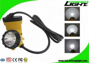 China 25000Lux High Beam Corded Mining Cap Lamp 10.4Ah Samsung Battery with Low Power Warning Function on sale