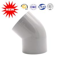 Hot Pressed Water Supply Fitting Series Plastic Pipe Fittings 45 Degree Elbow