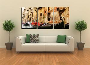 China Wholesale stretched multi canvas prints wall art canvas group three pieces art canvas prints for decor on sale