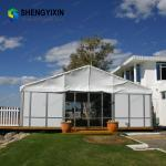 Clear Roof Wedding Banquet Reception House Tent with Clear Sidewall Trade Show white big outdoor inflatable party tent
