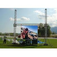 China P10 1R1G1B IP65 VGA Iron Full Color Electronic Outdoor Led Video Wall Rental on sale