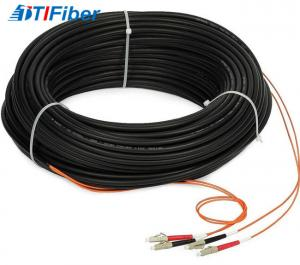China Indoor FTTH Drop Cable Fiber Optic Patch Cord Singlemode With SC LC ST FC Connector on sale