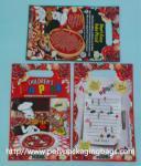 Red Plastic Toy Packaging Poly Bags / Custom Printed 3 Side Seal Bag