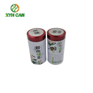 China Food Grade Pretty Tea Tin Container Recycled Materials D83.3×H150 mm on sale