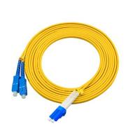 3 Meters LC To SC Single Mode Fiber Jumpers Yellow Jacket Easy Installation