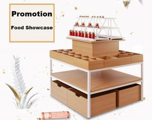 China Modern Style Food Store Shelving Shop Display Tables 1000*1000*1350mm on sale
