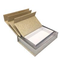 Luxury Magnetic Xmas Gift Boxes With Lids Gold Glitter Paper Custom Size