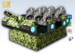 Tank - Shaped 9D VR Simulator , 9d Adventure Extreme CinemasWireless Operation