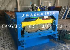 China 760 / 820 Clip Self Lock Roofing Wall Panel Sheet Roll Forming Machine Chain Driven Type\ on sale