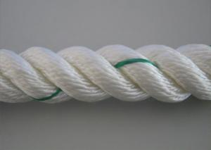 China NEW 75 Feet Of 3/4 Inch Nylon White Rope With Green Tracer (high quailty) on sale