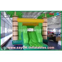 Customize Coconut Tree Green Inflatable Bouncer House For Playing