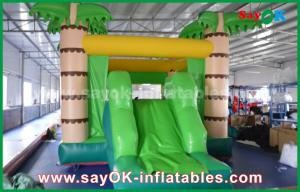 China Customize Coconut Tree Green Inflatable Bouncer House For Playing on sale
