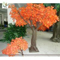 UVG 8ft orange plastic maple artificial indoor trees for meeting room decoration