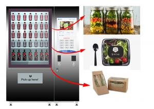 China Healthy Food Vending Locker , Salad Vending Machine With Remote Control System on sale