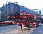 China 3 Axle Bitumen Tank Semi Trailer 50000 Liters / Customized Tank Volume wholesale