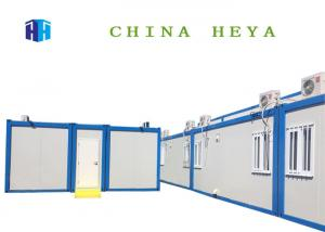 China Modular 20ft Sandwich Panel Prefab House , Fully Furnished Steel Container Homes on sale